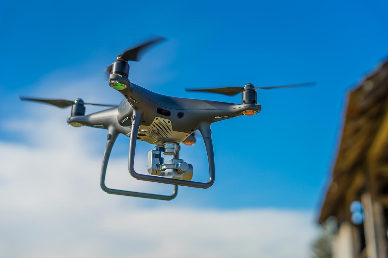 organizando filmagem com drone