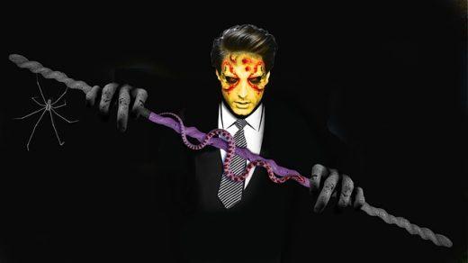 homem vestido de monstro
